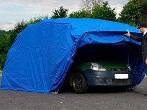 garaj pliabil - cort auto